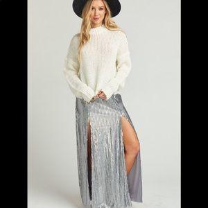 Show Me Your Mumu Maxi Skirt Mick Double Slit NWT